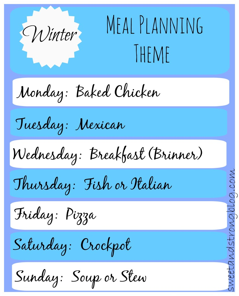Winter Meal Planning