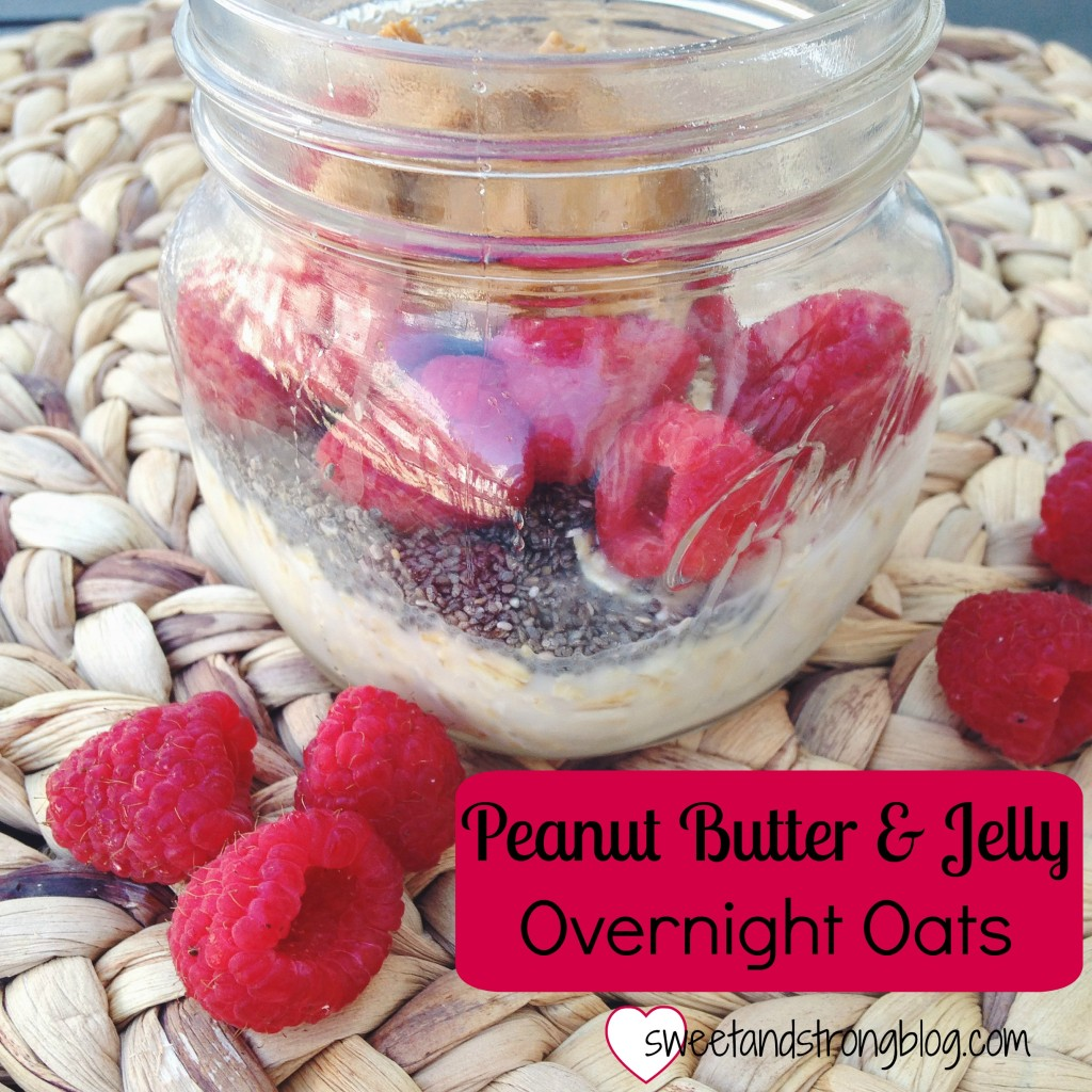 Peanut Butter & Jelly Overnights Oats