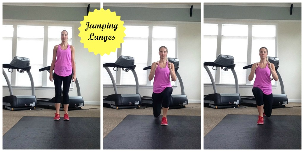 Jumping Lunges