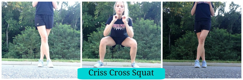 5 Squat Variations you need to try, Criss Cross Squat