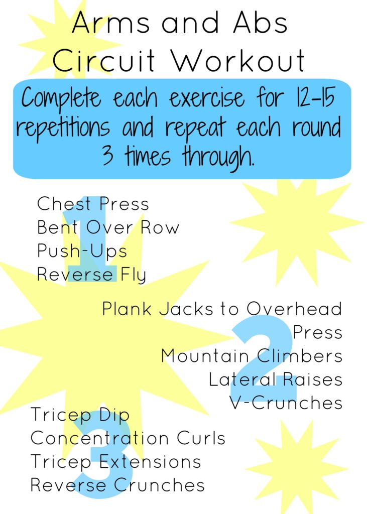 Arms and Abs Circuit Workout