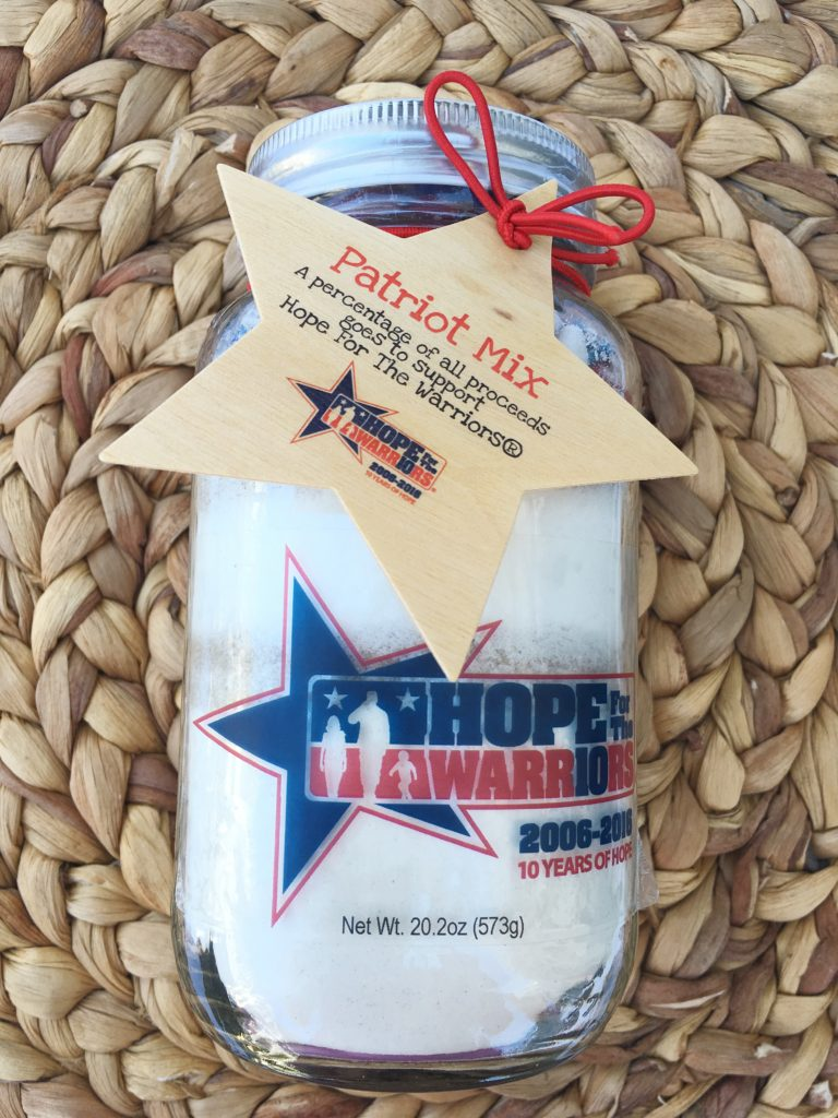 Hope for the Warriors Patriot Mix in a Mason Jar