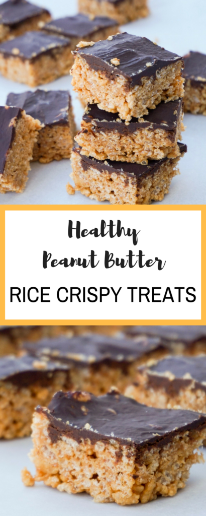 Healthy Peanut Butter Rice Crispy Treats