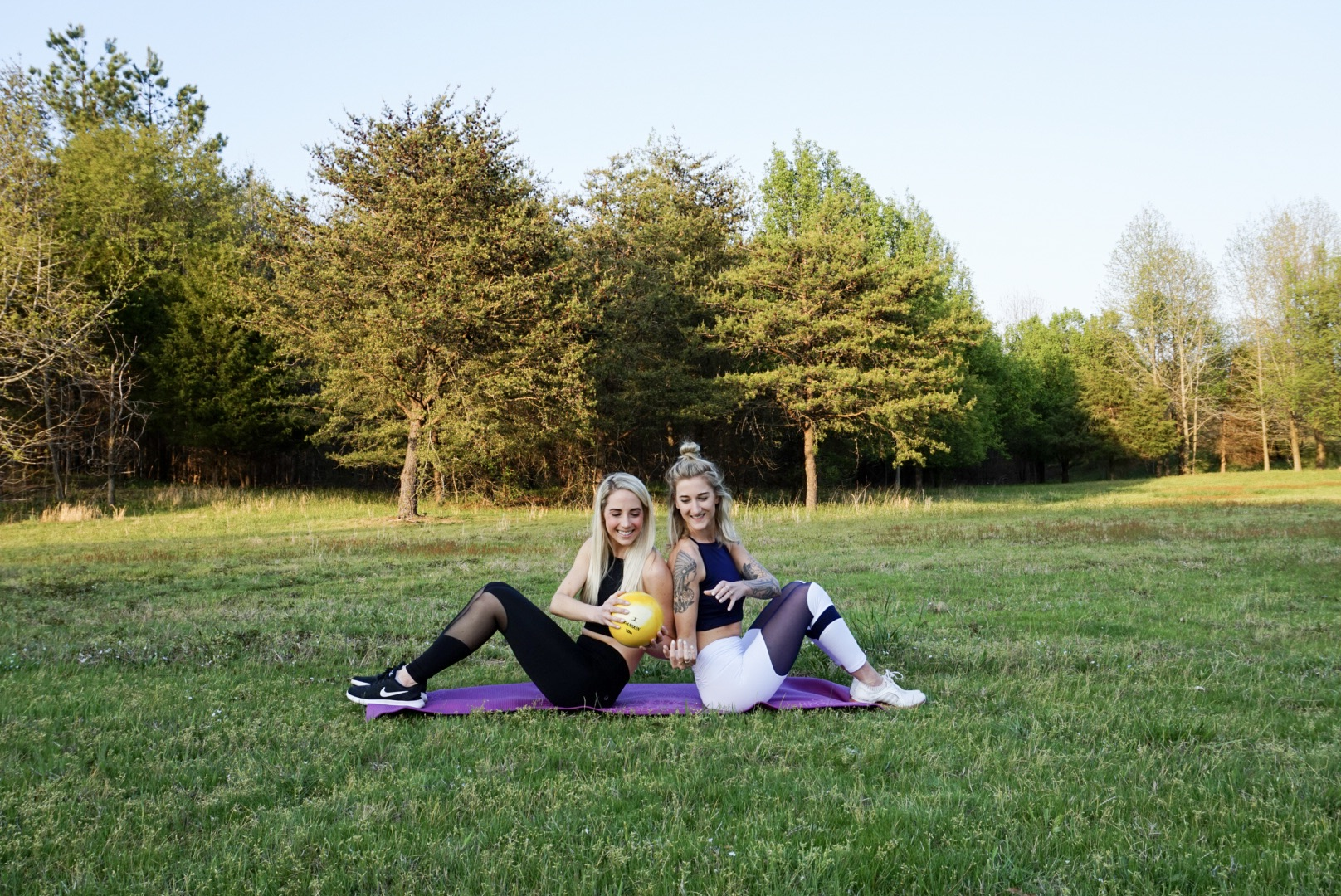 Quick and Sweaty Partner Ab Workout in Chill by Will attire