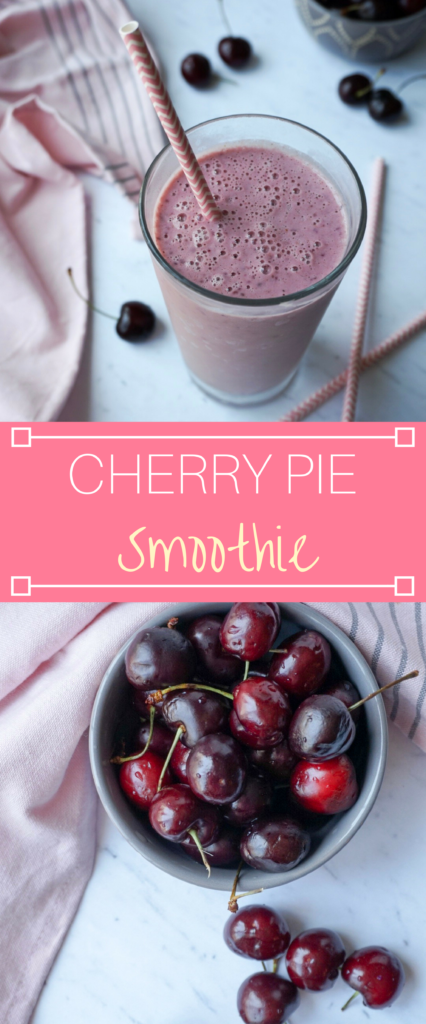 Cherry Pie Smoothie that is naturally sweetened, made with real ingredients, and a refreshing summer treat.