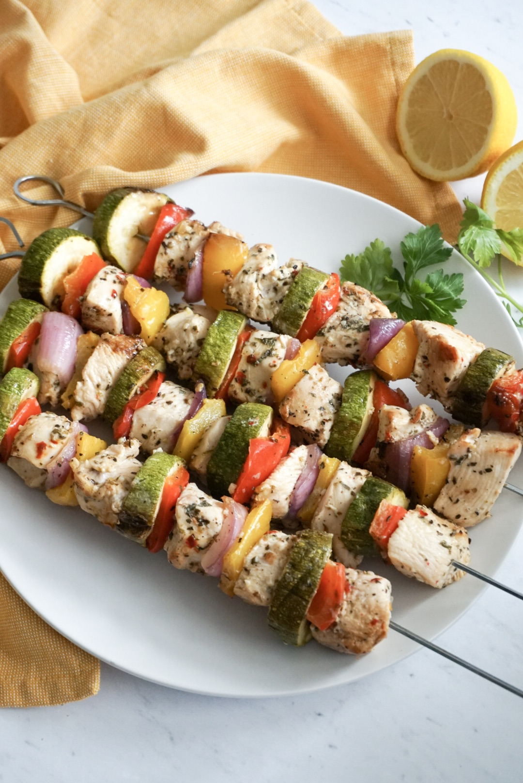 Italian Chicken And Vegetable Kabobs Sweet And Strong