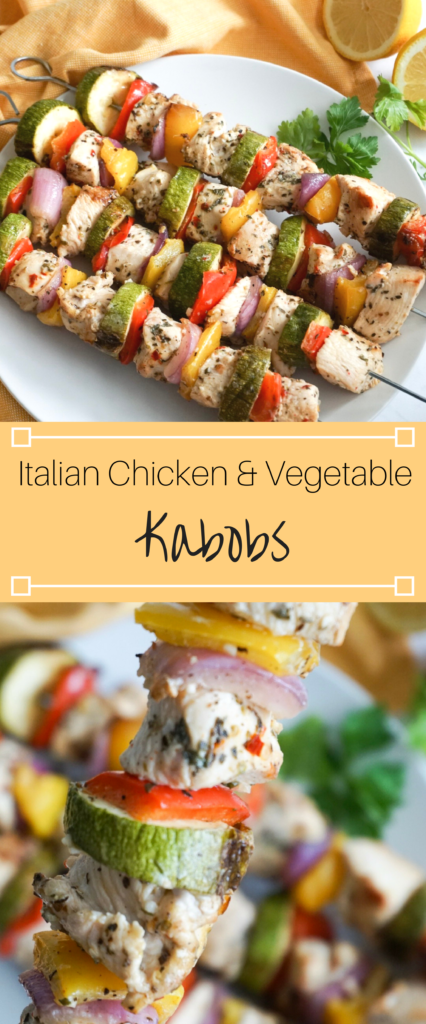 Italian Chicken and Vegetable Kabobs