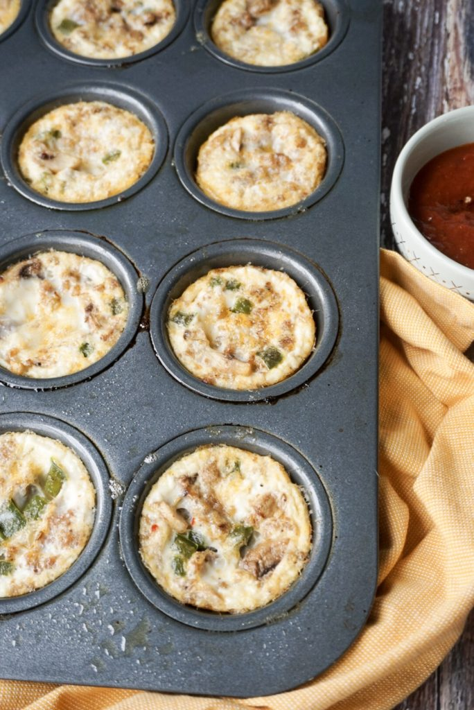 Whole 30 Approved Egg White Pizza Muffins