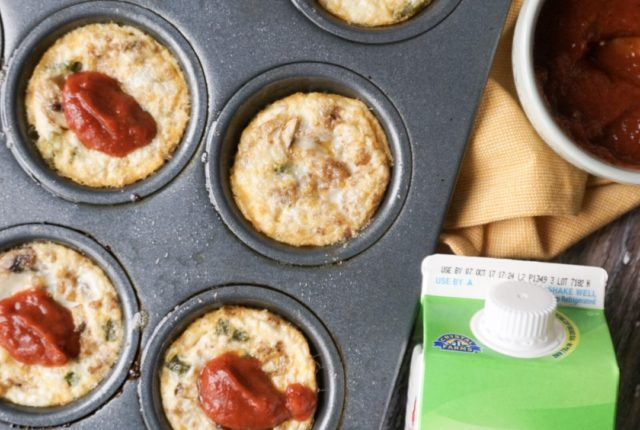 Whole 30 Approved Egg White Pizza Muffins with All Whites Liquid Egg Whites