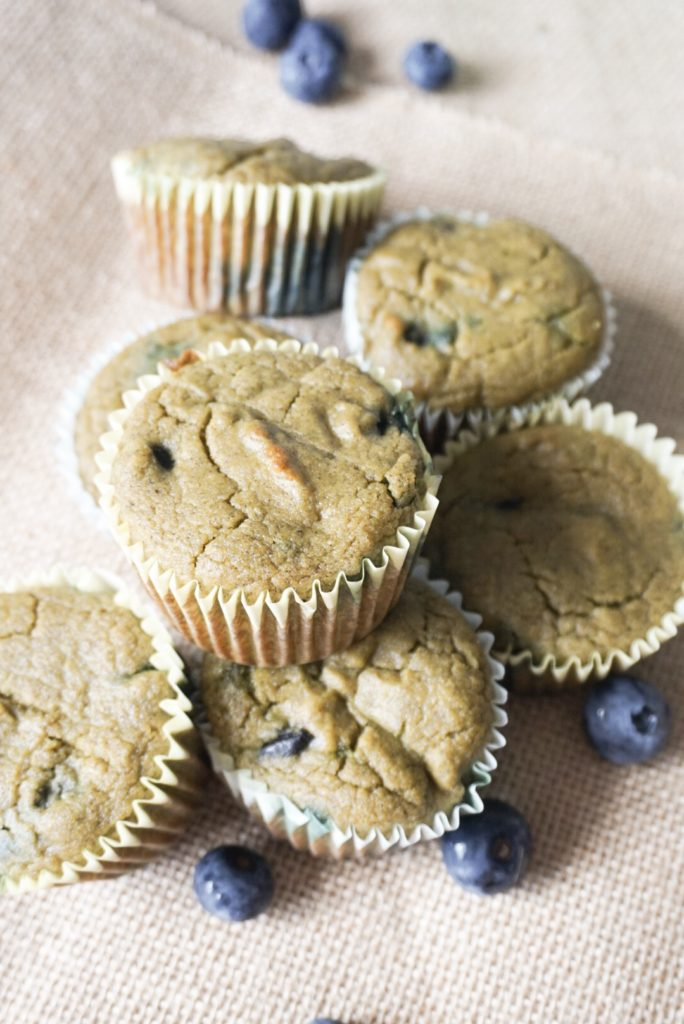Paleo Blueberry Muffins with Vital Proteins Beauty Greens