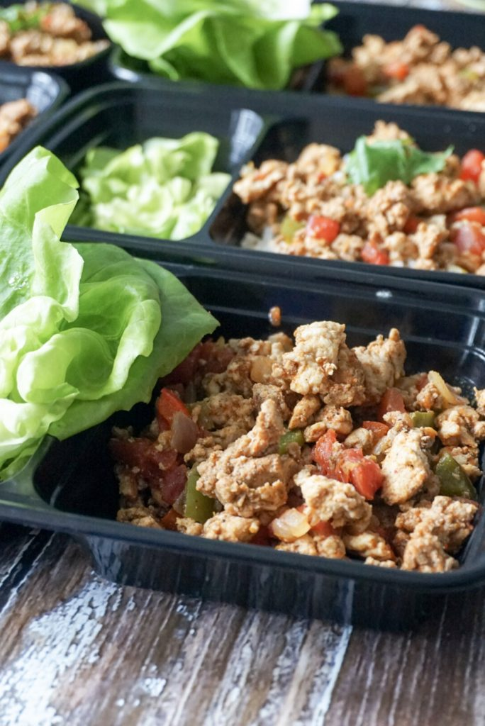 Meal Prep Taco Bowls with Lettuce Wraps