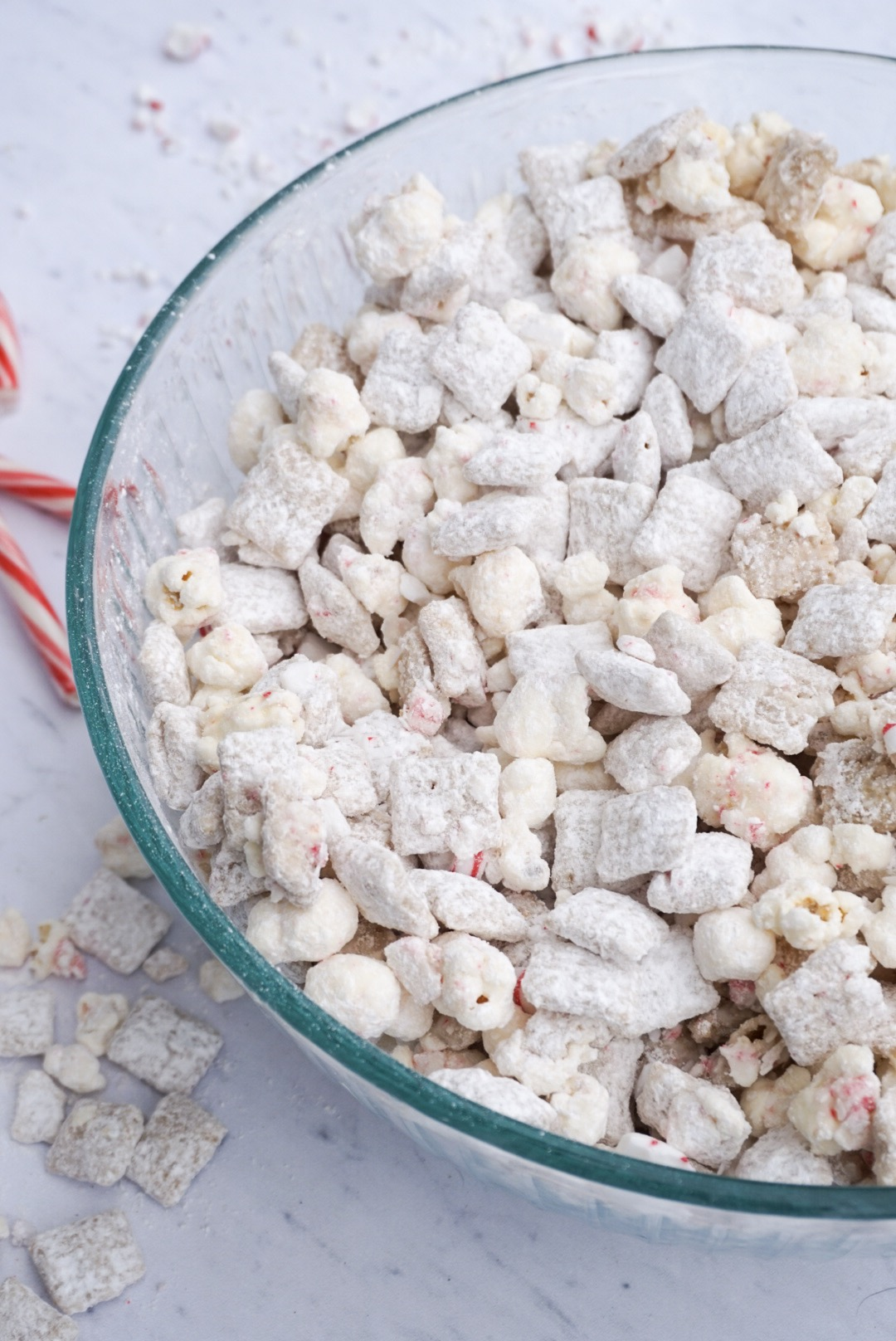 White Chocolate Peppermint Puppy Chow Sweet And Strong