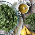 Massaged Kale Salad with lemon, olive oil, and sea salt