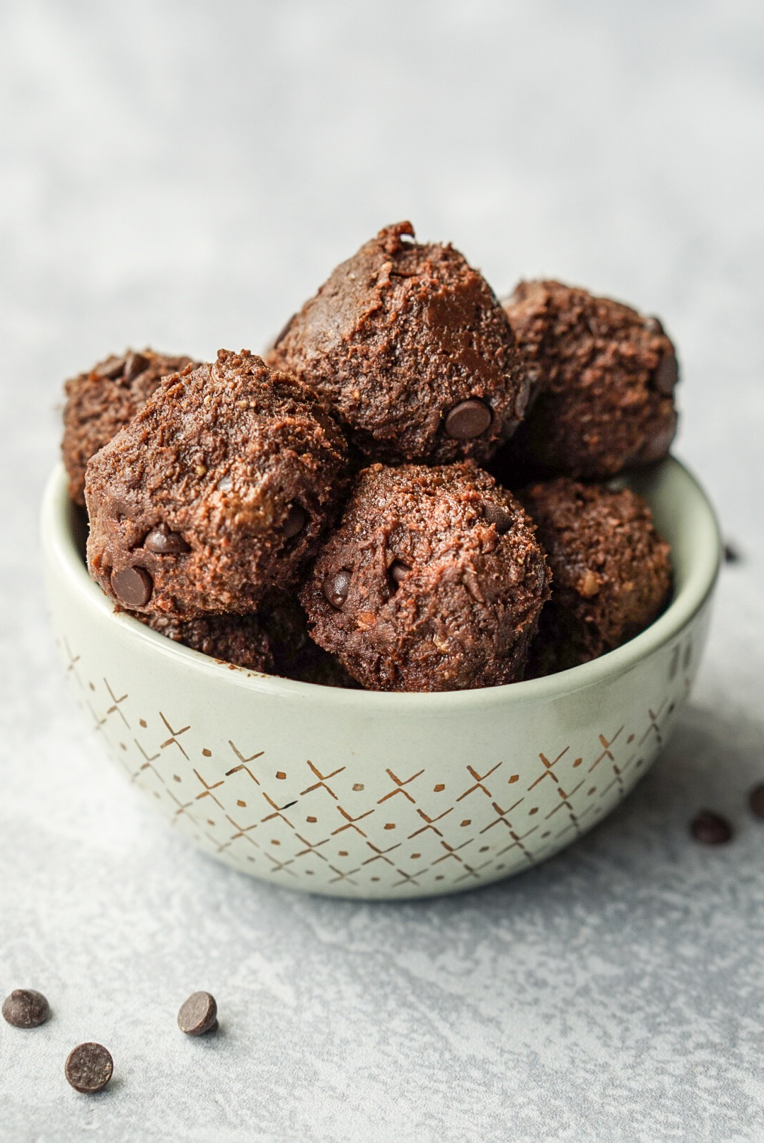No Bake Healthy Brownie Bites