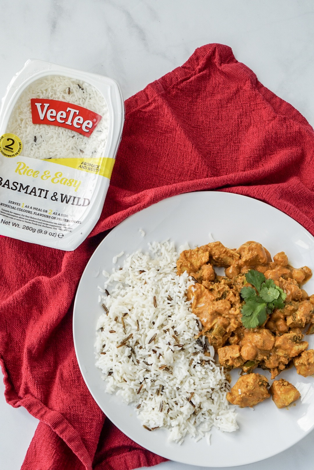 VeeTee Basmati and Wild Rice with Butter Chicken