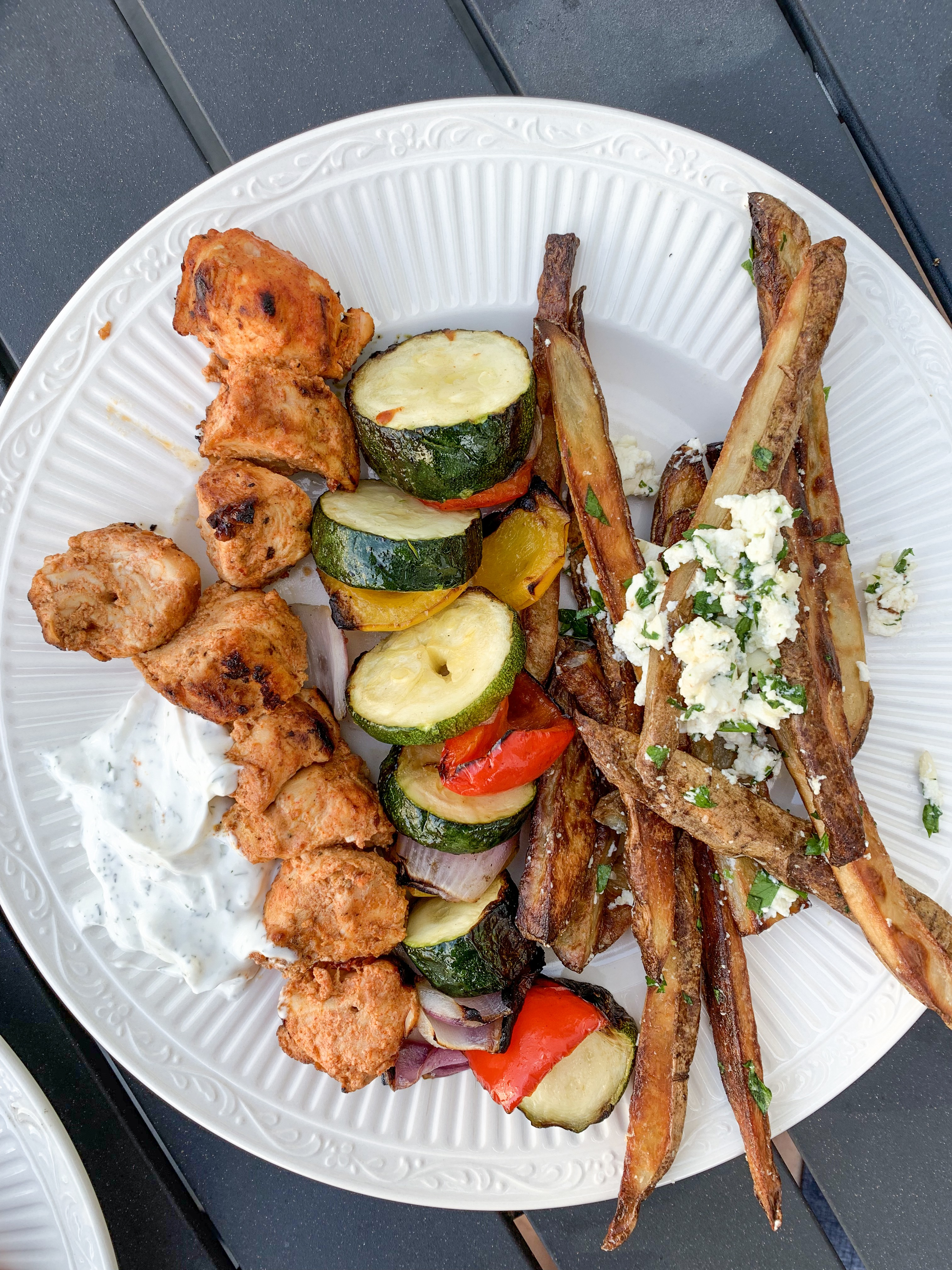 Greek Yogurt Marinated Chicken Kabobs